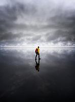 Walking on water. Vatnajökull National Park, Iceland