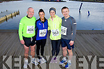 Michael Naughton, Mandy Hudson, Claire Molloy and Oliver Molloy at the Valentines 10 mile road race in Tralee on Saturday.