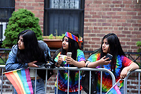 QUEENS, NEW YORK - JUNE 04: The LGBT  Latino community celebrates  25 years of the  Queens Pride 2017 parade. Across the Jackson Heights streets performances and public take place on June 4, 2017 in New York. Joana Toro/VIEW press