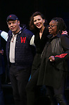 Danny Burstein, Maggie Gyllenhaal, Whoopi Goldberg  during the Curtain Call for the Roundabout Theatre Company presents a One-Night Benefit Concert Reading of 'Damn Yankees' at the Stephen Sondheim Theatre on December 11, 2017 in New York City.