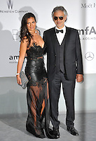 Andrea Bocelli &amp; wife  at the 21st annual amfAR Cinema Against AIDS Gala at the Hotel du Cap d'Antibes.<br /> May 22, 2014  Antibes, France<br /> Picture: Paul Smith / Featureflash