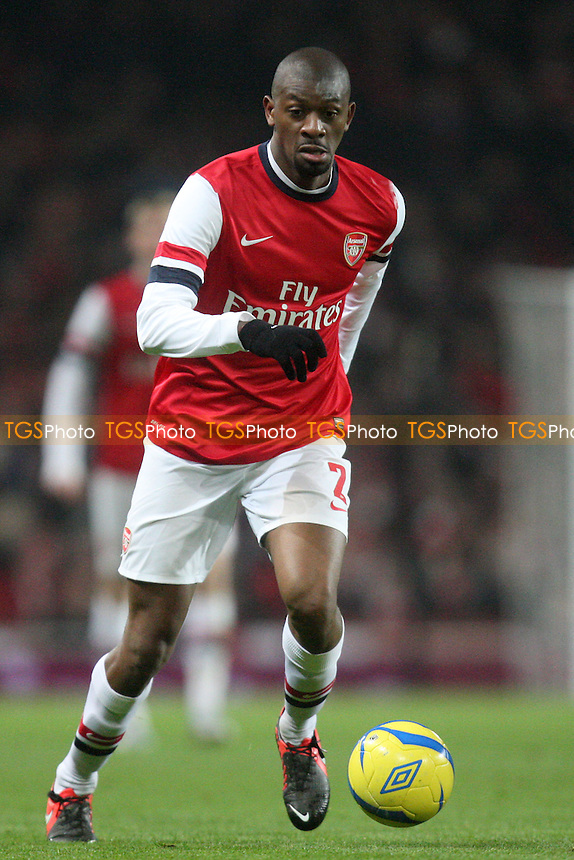 Abou Diaby of Arsenal - Arsenal vs Swansea City at the Emirates Stadium - 16/01/13 - MANDATORY CREDIT: Dave Simpson/TGSPHOTO - Self billing applies where appropriate - 0845 094 6026 - contact@tgsphoto.co.uk - NO UNPAID USE.