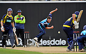 Cricket - Hampshire Royals V Scottish Saltires at The Rosebowl - Southampton -CB40 - Gordon Goudie was the pick of the Saltire's bowlers with figures with 3 for 51 off 7 - Picture by Donald MacLeod -29.08.11 - 07702 319 738 - www.donald-macleod.com