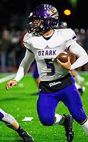 Ozark vs Elkins - Dawson Dietz (5) of Ozark running the ball against Elkins at John Bunch Field, Elkins, AR  on Friday, November 2 2018.   Special to NWA Democrat-Gazette/ David Beach