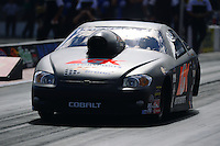 Sept. 14, 2012; Concord, NC, USA: NHRA pro stock driver Erica Enders during qualifying for the O'Reilly Auto Parts Nationals at zMax Dragway. Mandatory Credit: Mark J. Rebilas-