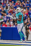 14 September 2014: Miami Dolphins wide receiver Jarvis Landry receives a kickoff from the Buffalo Bills in the first quarter at Ralph Wilson Stadium in Orchard Park, NY. The Bills defeated the Dolphins 29-10 to win their home opener and start the season with a 2-0 record. Mandatory Credit: Ed Wolfstein Photo *** RAW (NEF) Image File Available ***