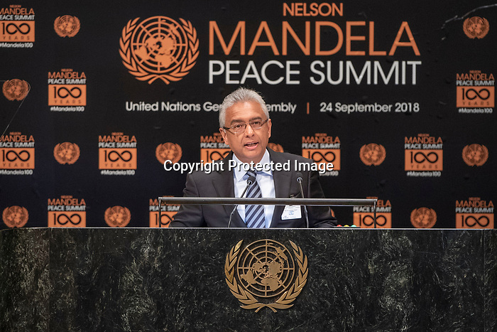 Opening Plenary Meeting of the Nelson Mandela Peace Summit<br /> <br /> His Excellency Pravind Kumar JUGNAUTHPrime Minister, Minister for Home Affairs,External Communications and National Development Unit,Minister for Finance and Economic Development ofthe Republic of Mauritius