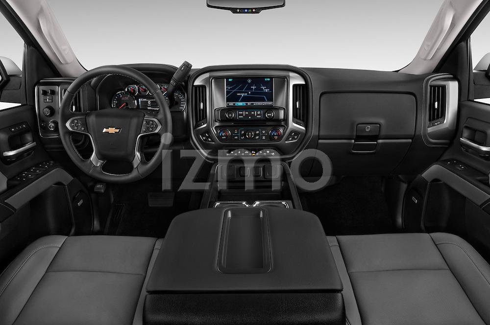 Stock photo of straight dashboard view of a 2015 Chevrolet Silverado 2500 4 Door Van