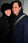 "ATWT's Annie Parisse ""Julia"" and Thomas Sadoski (ATWT 's Jesse Calhoun and Ugly Betty) star in the off-Broadway's Becky Shaw on December 20, 2008 at the Second Stage Theatre, New York City, NY which runs through February 1, 2009.  In Becky Shaw, press notes state, ""a newlywed couple fixes up two romantically challenged friends: wife's best friend, meets husband's sexy and strange new co-worker. When an evening calculated to bring happiness takes a dark turn, crisis and comedy ensue in this wickedly funny new play that asks what we owe the people we love and the strangers who land on our doorstep."" (Photo by Sue Coflin/Max Photos).."