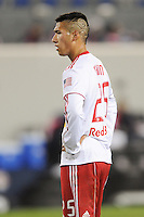 Detail shot of the hair cut on Connor Chinn (25) of the New York Red Bulls. The New York Red Bulls defeated the New England Revolution 3-0 during a U. S. Open Cup qualifier round match at Red Bull Arena in Harrison, NJ, on May 12, 2010.