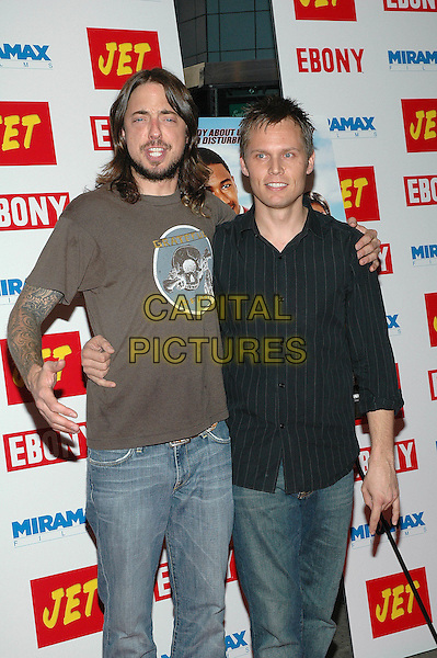 "23 August 2005 - New York, New York - Timothy Mahoney and Chad Sexton of the band 311 arrive at the premiere of the new film, ""The Underclassman"", at the Chelsea West Cinema in Manhattan.  .Photo Credit: Patti Ouderkirk/AdMedia"