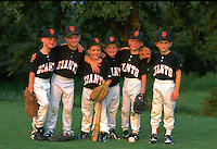 group of little league ball players,  little league ball players.