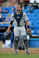 Tampa Yankees catcher Francisco Arcia during a game against the Dunedin Blue Jays on April 11, 2013 at Florida Auto Exchange Stadium in Dunedin, Florida.  Dunedin defeated Tampa 3-2 in 11 innings.  (Mike Janes/Four Seam Images)