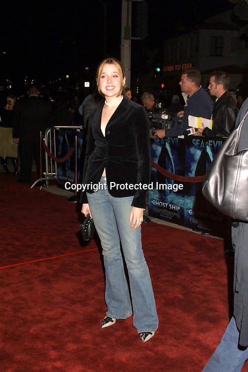 "©2002 KATHY HUTCHINS/ HUTCHINS PHOTO.""GHOST SHIP"" PREMIERE 10/22/02.LOS ANGELES, CA...MAJANDRA DELFINO"