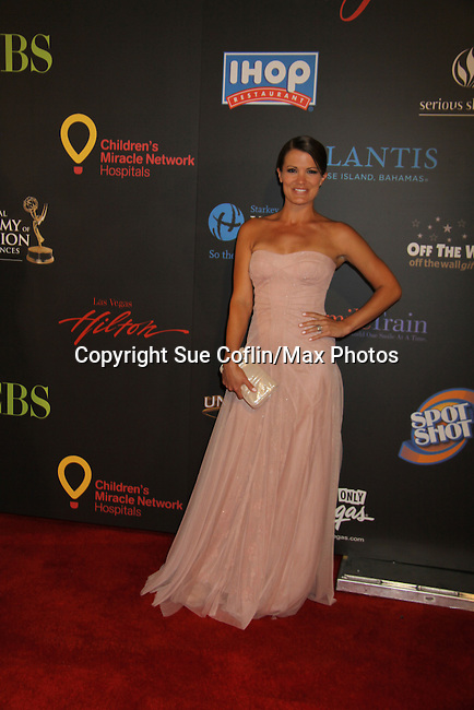 Melissa Claire Egan at the 38th Annual Daytime Entertainment Emmy Awards 2011 held on June 19, 2011 at the Las Vegas Hilton, Las Vegas, Nevada. (Photo by Sue Coflin/Max Photos)