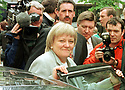 Archive Picture. New Northern Ireland Secretary for State Mo Mowlam,  arrives with a smile, Saturday May 7, 1997 , on a visit to Belfast city centre. Mowlam was appointed just four hours before her visit.  Photo/Paul McErlane Photography