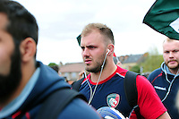 Lachlan McCaffrey and the rest of the Leicester Tigers team arrive at the stadium. European Rugby Champions Cup semi final, between Leicester Tigers and Racing 92 on April 24, 2016 at The City Ground in Nottingham, England. Photo by: Patrick Khachfe / JMP