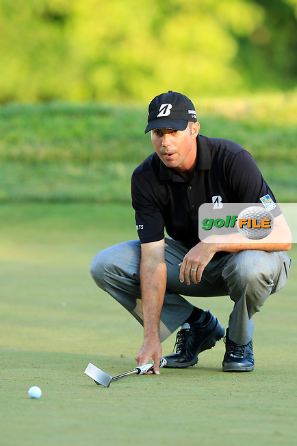 Matt Kuchar (USA) lines up his putt on the par3 13th green during Friday's Round 2 of the 113th U.S.Open National Championship held at Merion Golf Club, Ardmore, Philadelphia, Pennsylvania. <br /> 14th June 2013<br /> (Picture: Eoin Clarke www.golffile.ie)