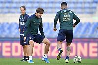 Federico Chiesa and Armando Izzo <br /> Roma 11-10-2019 Stadio Olimpico <br /> European Qualifiers Qualifying round <br /> Italy - Greece day -1 training<br /> Photo Andrea Staccioli/Insidefoto