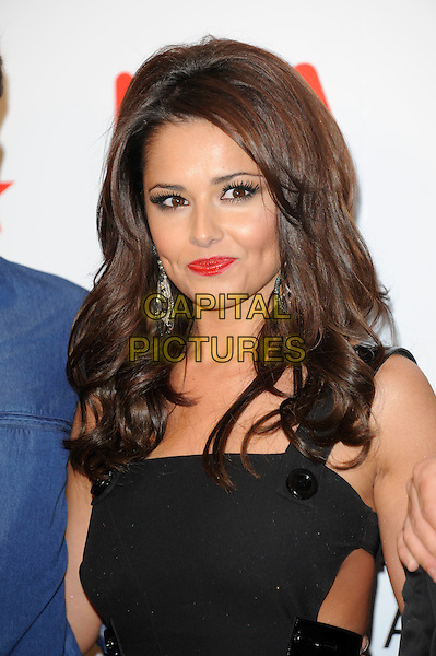 CHERYL COLE .National Television Awards at the O2 Arena, London, England..January 26th 2011.Press room pressroom NTA NTAs headshot portrait black button red lipstick make-up  .CAP/FIN.©Steve Finn/Capital Pictures.