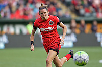 Portland, Oregon - Sunday October 2, 2016: Portland Thorns FC defender Emily Menges (4) during a semi final match of the National Women's Soccer League (NWSL) at Providence Park.