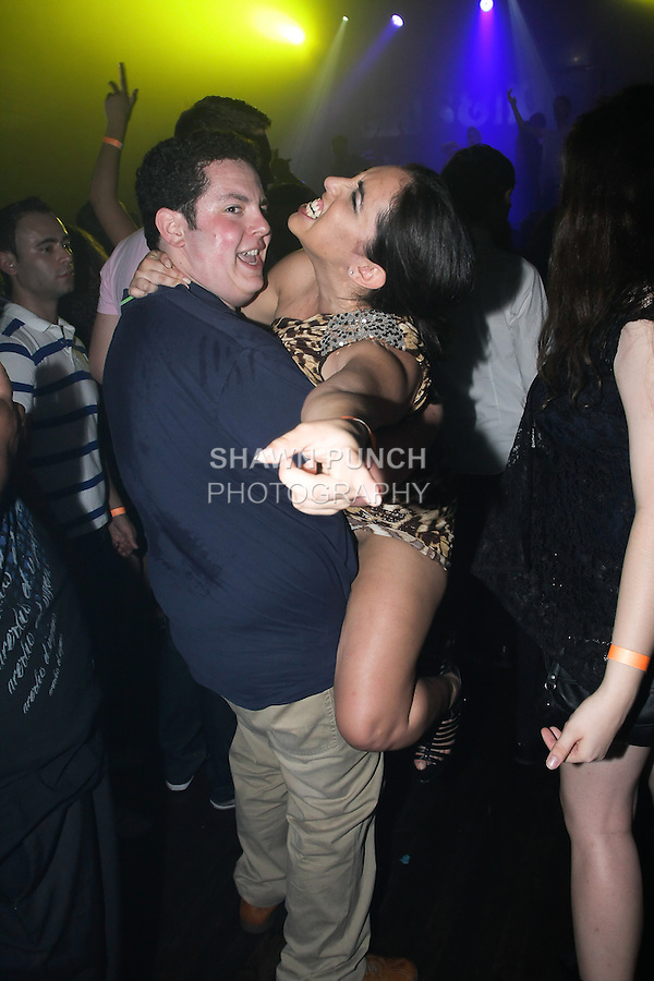 People partying at Webster Hall night club on August 05, 2011.