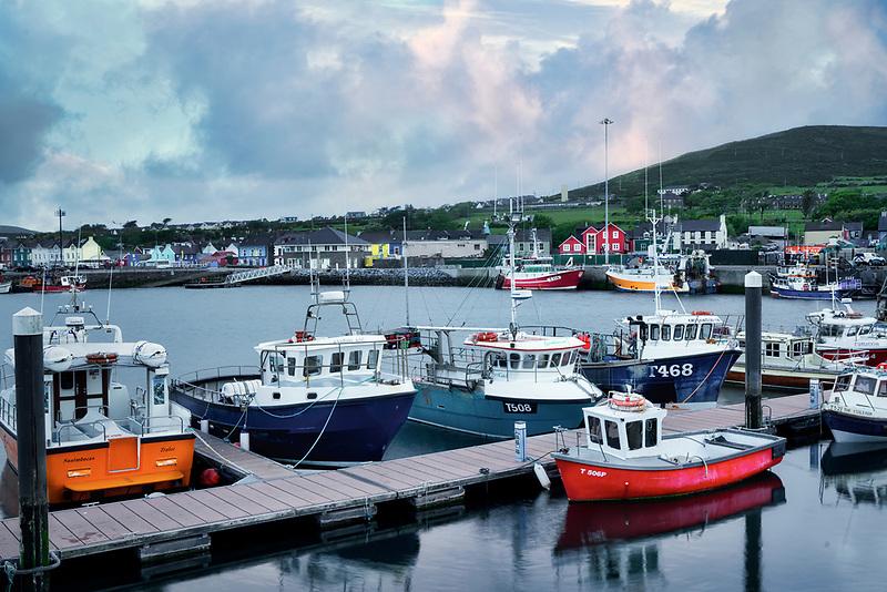 Fishing boats in Dingle Harbor, County Kerry, Ireland