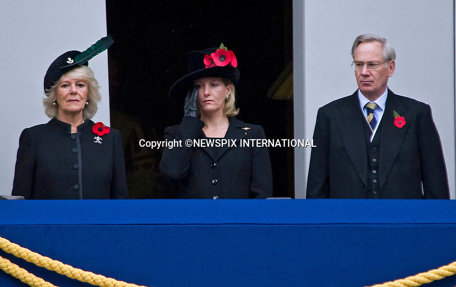 "CAMILLA, DUCHESS OF CORNWALL, SOPHIE, COUNTESS OF WESSEX AND THE DUKE OF GLOUCESTER AT REMEMBRANCE SERVICE 2010.Prince Philip, Prince Charles, Prince Andrew Prince Edward and Princess Anne joined the Queen at the Cenotaph, London for the annual Service of Remembrance_14/11/2010..Mandatory Photo Credit: ©Dias/Newspix International..**ALL FEES PAYABLE TO: ""NEWSPIX INTERNATIONAL""**..PHOTO CREDIT MANDATORY!!: NEWSPIX INTERNATIONAL(Failure to credit will incur a surcharge of 100% of reproduction fees)..IMMEDIATE CONFIRMATION OF USAGE REQUIRED:.Newspix International, 31 Chinnery Hill, Bishop's Stortford, ENGLAND CM23 3PS.Tel:+441279 324672  ; Fax: +441279656877.Mobile:  0777568 1153.e-mail: info@newspixinternational.co.uk"