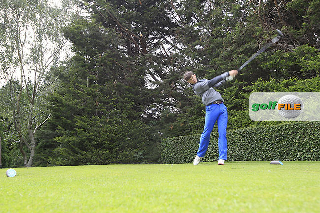 Brian Staunton (Mount Juliet) during the first round of the Irish Boys Amateur Open Championship,Castle Golf Club, Dublin,  Ireland. 28/06/2016.<br /> Picture Fran Caffrey / Golffile.ie<br /> <br /> All photo usage must carry mandatory copyright credit (&copy; Golffile   Fran Caffrey)