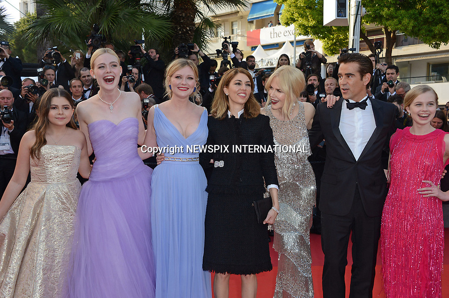 24.05.2017; Cannes, France: ELLE FANNING, KIRSTEN DUNST, SOFIA COPPOLA, NICOLE KIDMAN AND COLIN FARRELL<br /> attends the screening of &ldquo;The Beguiled&rdquo; at the 70th Cannes Film Festival, Cannes<br /> Mandatory Credit Photo: &copy;NEWSPIX INTERNATIONAL<br /> <br /> IMMEDIATE CONFIRMATION OF USAGE REQUIRED:<br /> Newspix International, 31 Chinnery Hill, Bishop's Stortford, ENGLAND CM23 3PS<br /> Tel:+441279 324672  ; Fax: +441279656877<br /> Mobile:  07775681153<br /> e-mail: info@newspixinternational.co.uk<br /> Usage Implies Acceptance of Our Terms &amp; Conditions<br /> Please refer to usage terms. All Fees Payable To Newspix International