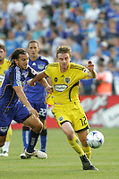 Eddie Gaven #12, Santiago Hirsig..Columbus Crew defeated Kansas City Wizards 2-0 at Community America Ballpark, Kansas  City, Kansas.