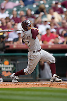 Kevin Gonzalez #10 of the Texas A&M Aggies follows through on his swing versus the UC-Irvine Anteaters in the 2009 Houston College Classic at Minute Maid Park February 27, 2009 in Houston, TX.  The Aggies defeated the Anteaters 9-2. (Photo by Brian Westerholt / Four Seam Images)