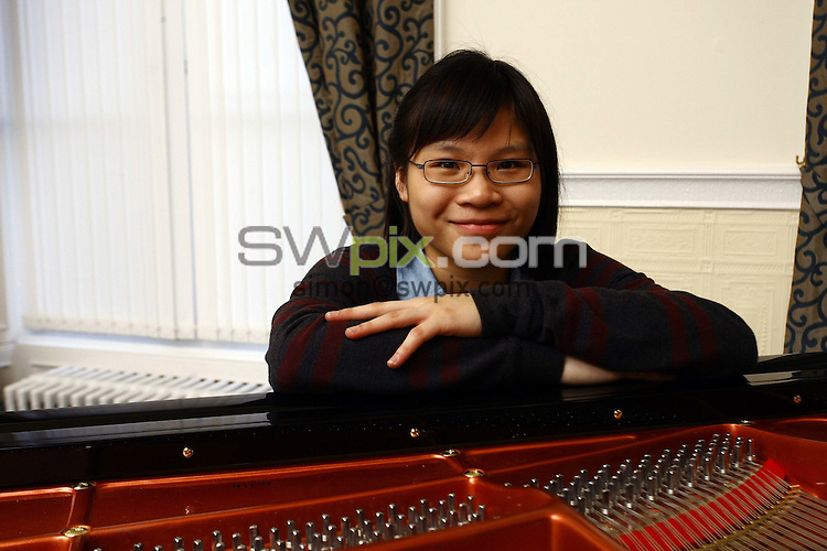 PICTURE BY VAUGHN RIDLEY/SWPIX.COM - Leeds International Pianoforte Competition 2009 - Devonshire Hall, Leeds University, Leeds, England - 10/09/09...Copyright - Simon Wilkinson - 07811267706...China's Rachel?Cheung prepares for the final of the Leeds International Pianoforte Competition 2009..The Leeds International Pianoforte Competition final will be broadcast on BBC Radio 3 on the 13th of September and on BBC Four from Friday 18th of September every Friday till the 23rd of October.
