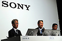 June 29, 2016, Tokyo, Japan - Japan's electronics giant Sony president Kazuo Hirai (C) announces the company's business strategy at the Sony headquarters in Tokyo on Wednesday, June 29, 2016 while CFO Kenichiro yoshida (L) and executive vice president Tomoyuki Suzuki (R) look on. Hirai said Sony's target of consolidate ROE would be more than 10 percent and operating profit would be more than 500 billion yen in the 2017 fiscal year.   (Photo by Yoshio Tsunoda/AFLO) LWX -ytd-