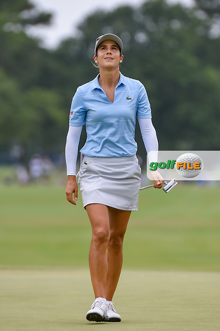 Azahara Munoz (ESP) reacts to her putt on 9 during round 2 of the 2019 US Women's Open, Charleston Country Club, Charleston, South Carolina,  USA. 5/31/2019.<br /> Picture: Golffile | Ken Murray<br /> <br /> All photo usage must carry mandatory copyright credit (© Golffile | Ken Murray)