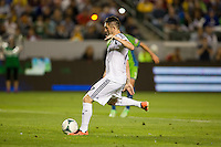 The LA Galaxy defeated the Seattle Sounders 4-0 during a Major League Soccer (MLS) game at Home Depot Center stadium in Carson, California on Sunday May 26, 2013.