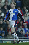 Paul Gallagher of Blackburn - Blackburn Rovers v Arsenal - Premier League - Ewood Park Stadium - Blackburn - 15th March 2003 - Pics Simon Bellis