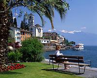 CHE, Schweiz, Tessin, Brissago: Kurort am Lago Maggiore | CHE, Switzerland, Ticino, Brissago at Lago Maggiore