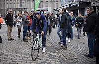 former winner in Li&egrave;ge Daniel Martin (IRL/Etixx-Quickstep) coming back from sign-in<br /> <br /> 102nd Li&egrave;ge-Bastogne-Li&egrave;ge 2016