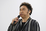 "July 13, 2018, Tokyo, Japan - Japan's mimic impersonator Korokke or Croket speaks at a press conference as he will produce a picture book ""Arigato unpi"" with the latest augmented reality (AR) technology in Tokyo on Friday, July 13, 2018. The picture book enables to give a reading book  by Korokke and show Korokke's mimic performance with a smart phone or tablet.     (Photo by Yoshio Tsunoda/AFLO) LWX -ytd-"