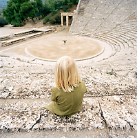 The Sanctuary of Asklepios at Epidaurus, and old Romen ampitheatre and UNESCO World Heritage Site, Epidaurus, Greece