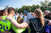 Kansas City, MO - Wednesday August 16, 2017: Orlando Pride  during a regular season National Women's Soccer League (NWSL) match between FC Kansas City and the Orlando Pride at Children's Mercy Victory Field.