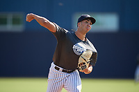 New York Yankees pitcher Nelson L Alvarez (32) during an Instructional League intrasquad game on September 27, 2019 at New York Yankees Minor League Complex in Tampa, Florida.  (Mike Janes/Four Seam Images)