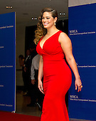 Model Ashley Graham arrives for the 2016 White House Correspondents Association Annual Dinner at the Washington Hilton Hotel on Saturday, April 30, 2016.<br /> Credit: Ron Sachs / CNP<br /> (RESTRICTION: NO New York or New Jersey Newspapers or newspapers within a 75 mile radius of New York City)