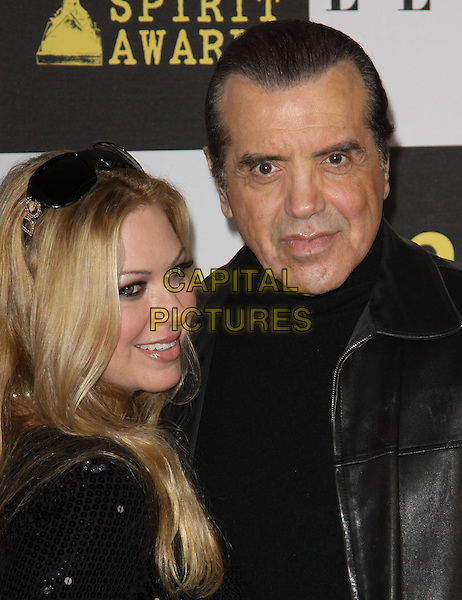 GUEST & CHAZZ PALMINTERI .25th Annual Film Independent Spirit Awards held At The Nokia LA Live, Los Angeles, California, USA,.March 5th, 2010 ..arrivals Indie Spirit portrait headshot black leather .CAP/ADM/KB.©Kevan Brooks/Admedia/Capital Pictures