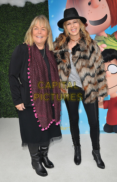 Linda Robson &amp; Kate Garraway attend the &quot;Snoopy &amp; Charlie Brown: The Peanuts Movie 3D&quot; gala film screening, Vue West End cinema, Leicester Square, London, England, UK, on Saturday 28 November 2015.<br /> CAP/CAN<br /> &copy;Can Nguyen/Capital Pictures