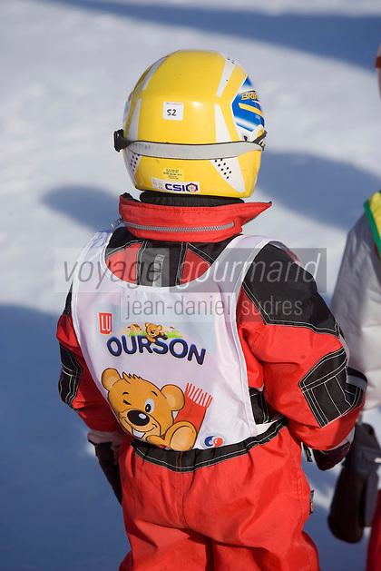 Europe/France/Rhone-Alpes/74/Haute-Savoie/Megève: l'école de skis pour les enfants -les Oursons