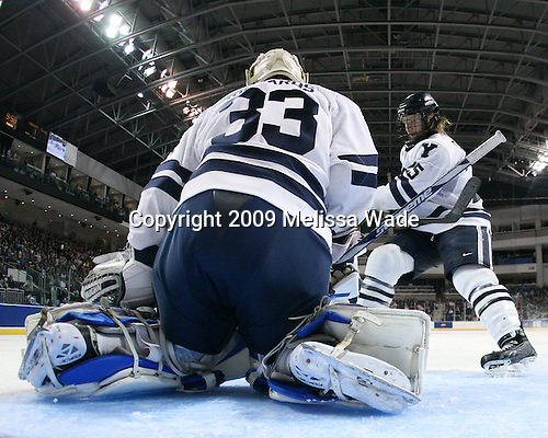 Alec Richards (Yale - 33), Ryan Donald (Yale - 25) - The University of Vermont Catamounts defeated the Yale University Bulldogs 4-1 in their NCAA East Regional Semi-Final match on Friday, March 27, 2009, at the Bridgeport Arena at Harbor Yard in Bridgeport, Connecticut.
