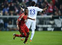 FUSSBALL   1. BUNDESLIGA  SAISON 2012/2013   21. Spieltag  FC Bayern Muenchen - FC Schalke 04                     09.02.2013 Torjubel: David Alaba (FC Bayern Muenchen)