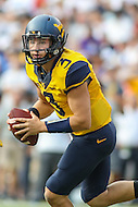 Landover, MD - September 23, 2016: West Virginia Mountaineers quarterback Skyler Howard (3) in action during game between BYU and WVA at  FedEx Field in Landover, MD.  (Photo by Elliott Brown/Media Images International)